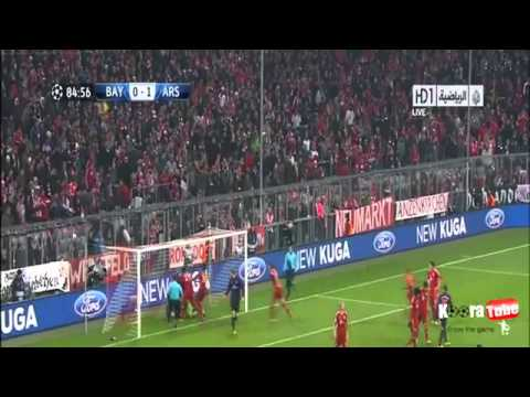 Bayern München VS Arsenal 0 - 2 All Goals & Highlights [13_3_2013] HD