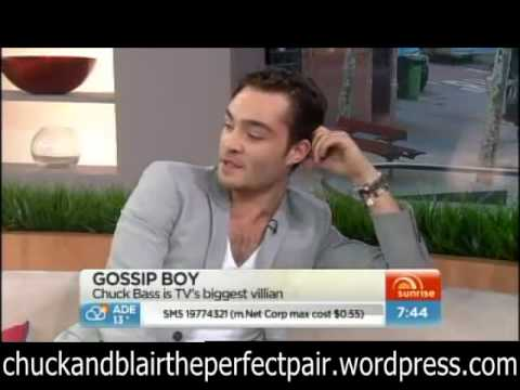 Ed westwick on Sunrise Videos Channel 7