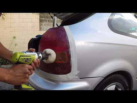DIY Honda civic EK4 tail light polish