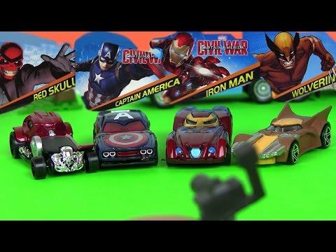 Игрушки для Мальчиков Marvel Мультики про Машинки. МАРВЕЛ| Молния Маквин. Губка Боб. Хот Вилс