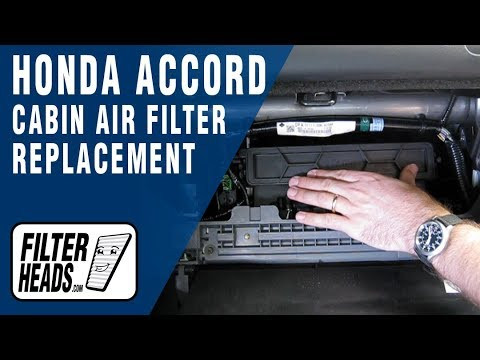cabin air filter replacement honda accord youtube