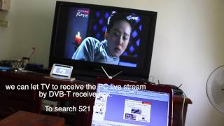 USB Wireless broadcast transmitter dongle by DVB-T /ATSC UHF