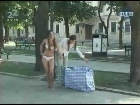 Bikini girl prank. Practical joke.mp4