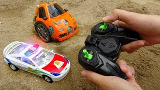 Remote control police car, train transporter car - H777B Toys for kids