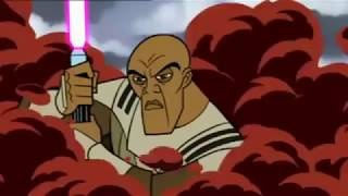 Mace Windu vs droid army in clone wars but with Hope