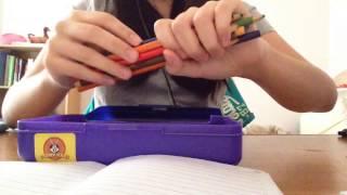 ASMR Trigger Assortment: Pencil Case Sounds (tapping, scratching, pencil crayon, writing)