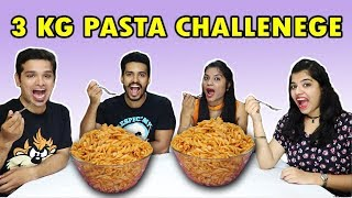 3 KG PASTA EATING CHALLENGE | PASTA EATING COMPETITION | 3 kg पास्ता ईटिंग चॅलेंज