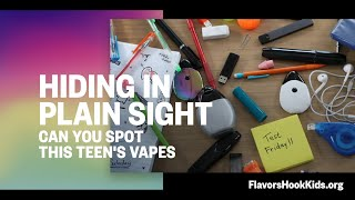 Identify which products teens are vaping.