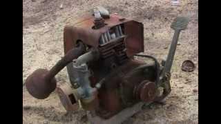 Old Villiers Petrol Motor Engine - Rubbish Dump Find