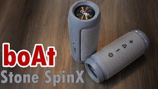 boAt Stone SpinX review Portable Wireless Speaker can connect two for stereo effects