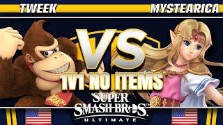Tweek (DK) vs. Mystearica (Zelda) - SSBU Demo - TBH8