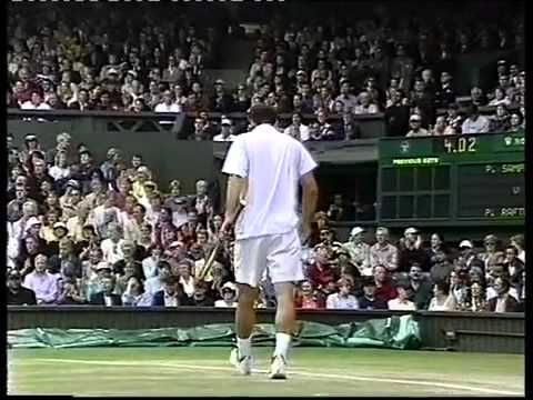 Pete Sampras v Pat Rafter 2000 Wimbledon final highlights Pt 1 YouTube