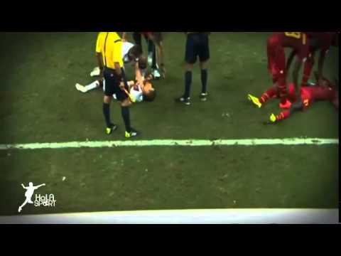 Muller Horror Injury   Germany vs Ghana 2 2   World Cup 2014