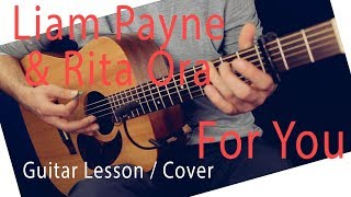 Download Lagu Liam Payne & Rita Ora - For You Guitar Lesson -For You Guitar Tutorial Chords / For You Cover Gratis STAFABAND