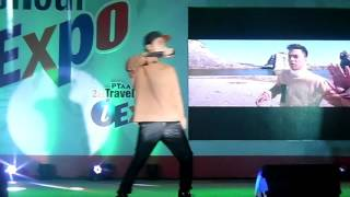 Sam Concepcion (SKYZE) performs AfterGlow at PTAA Travel Tour Expo 2017