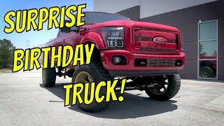Justin's Surprise Brithday Truck