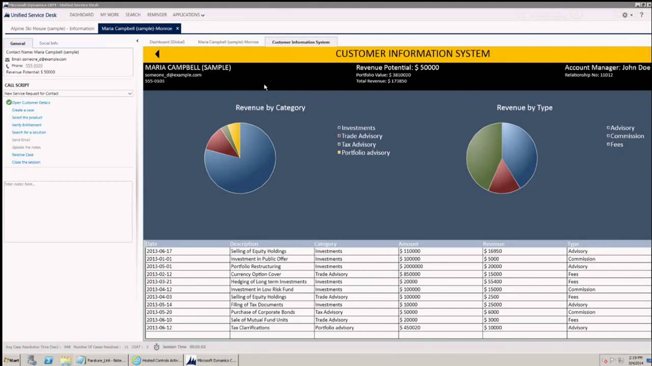 Crm 2013 Unified Service Desk Youtube