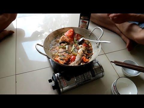 Làm thịt cá chép koi khủng - ăn thịt cá chép nhật cá koi
