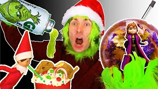 ELF ON THE SHELF Santa Drink 🎅 VS Grinch Drink VS Elsa & Anna Drink – Christmas DIY Drinks