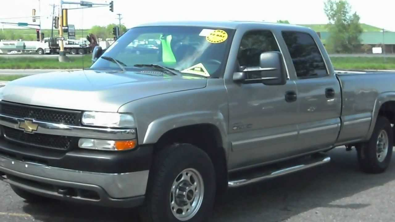 2002 CHEVROLET Silverado 2500HD LS, Crew cab 4dr, 4x4, 6.6 Duramax Diesel!!! - YouTube