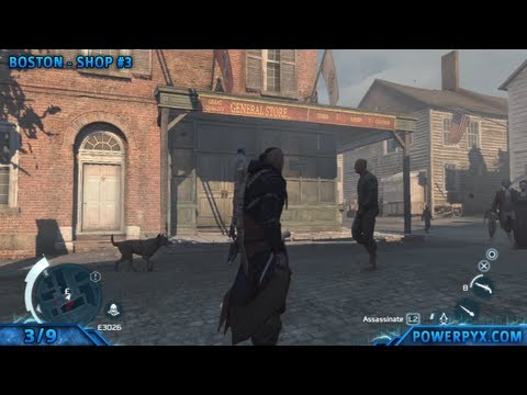 Assassin's Creed 3 - Coureur des Bois Trophy / Achievement Guide (All General Store Locations)