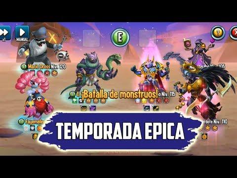 MI EQUIPO DE EPICOS CONTRA NEMESIS !! - Monster Legends