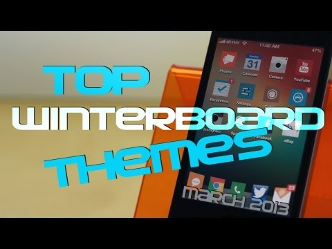 Top 5 Winterboard themes - March 2013 for iPhone & iPod Touch IOS6