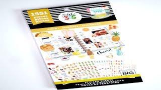 (NEW) Happy Planner FOOD Sticker Book Flip Through | New Release Spring 2018 | E.Michelle
