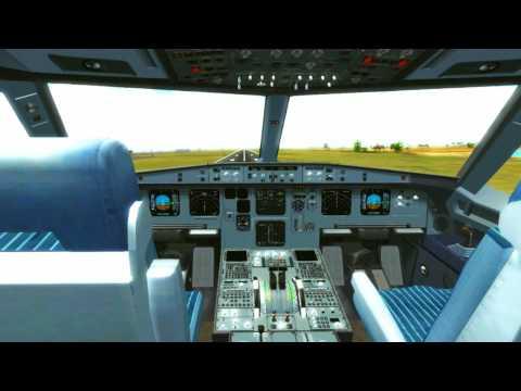 FSX - Air Asia cockpit landing at Bali International