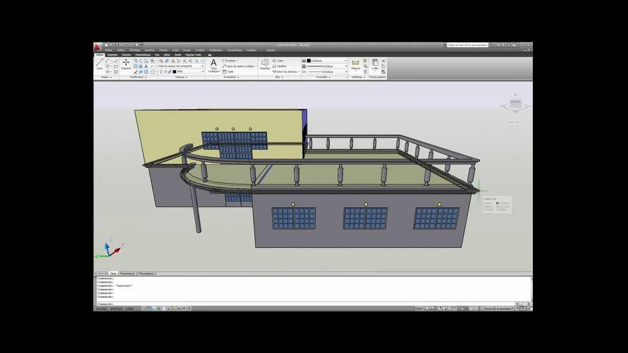 Dessiner un plan de maison avec autocad compl te for Apprendre a dessiner une maison en 3d