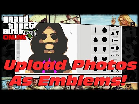 GTA 5 Online How To Upload Pictures To Rockstar Social Club Crew Emblem Editor Tutorial/Guide!