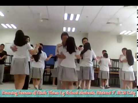 Dancing lessons of Dinh Thien Ly School students, District 7, HCM.City (Rumba)
