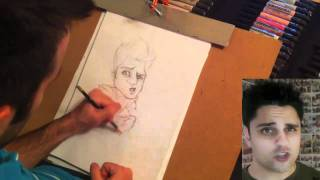 Caricature of Ray William Johnson