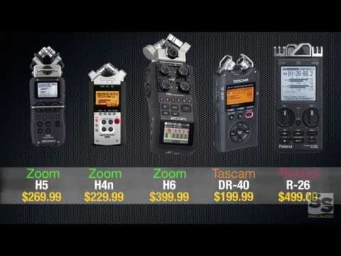 Handheld Recorder Review (Full): Zoom H6. H5. H4n. Tascam DR-40. Roland R-26