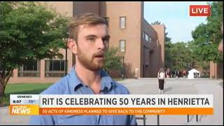 RIT on TV: 50 Acts of Kindness: SG President Bobby Moakley