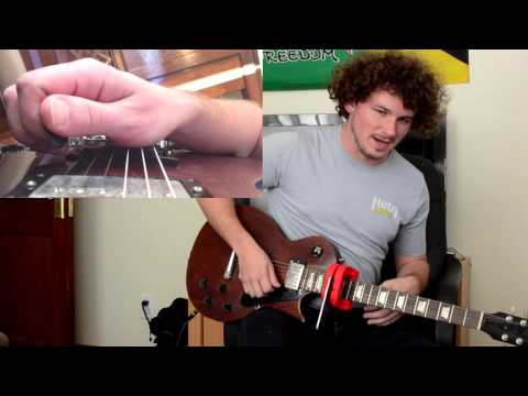 Gypsy Jazz On Electric Guitar LICK #2 For Downward Pickslanting Lesson