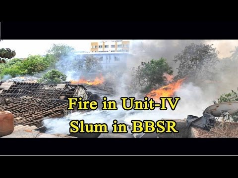 Fire in Unit-IV Slum in BBSR