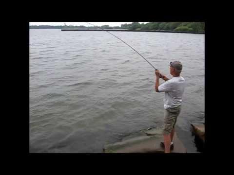 Lake erie south pier fishing june 26 2013 youtube for Lake erie pier fishing
