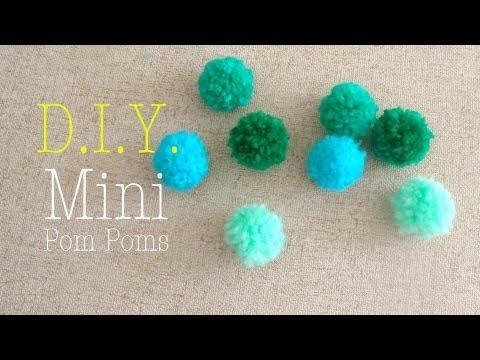 How To Make Mini Yarn Pom Poms Easy Diy video