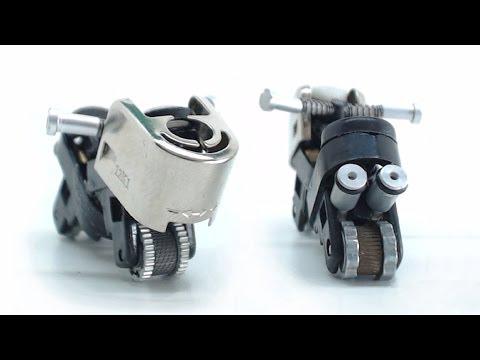 Minimoto con dos encendedores cómo se hace