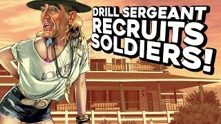 Drill Sergeant Recruits Soldiers!