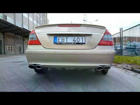 Mercedes E420 CDI Straight Pipe Exhaust Sound