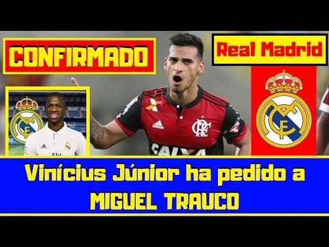 ¡ÚLTIMO MINUTO! 🔴 Miguel Trauco ¡PEDIDO! ⚽ Vinícius Júnior lo quiere en el REAL MADRID thumbnail