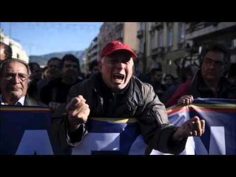 Greeks protest against pension reform as government seeks support