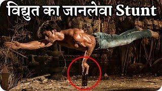 Vidyut Jammwal Balancing on a Glass Bottle on One Hand
