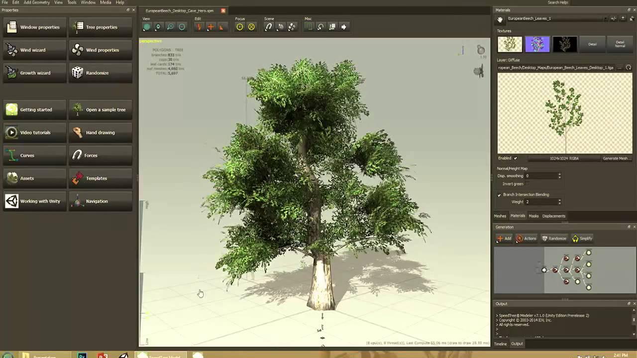 Как сделать дерево в юнити
