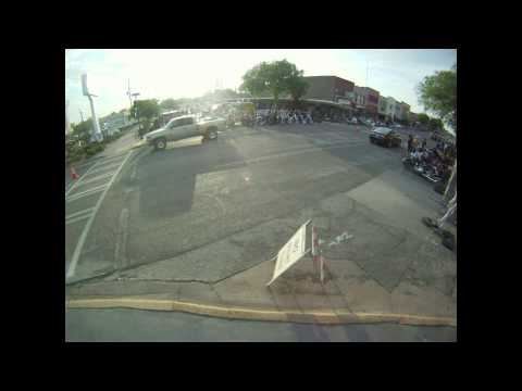 Downtown Stillwater, OK Bike Night Time-lapse, 2014 May 06, GoPro Hero
