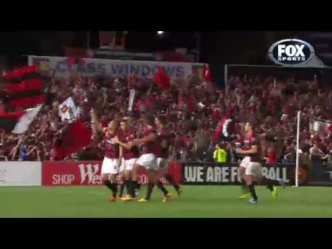 Shinji Ono Stunner Western Sydney Wanderers v Brisbane Roar - A-League 1st Semi Final