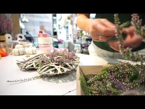 DIY: Deko-Herz mit Heidekraut, toll für den Herbst! Gartencenter Mencke