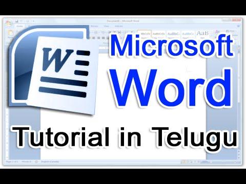 Ms Word in Telugu - Complete Video Tutorial